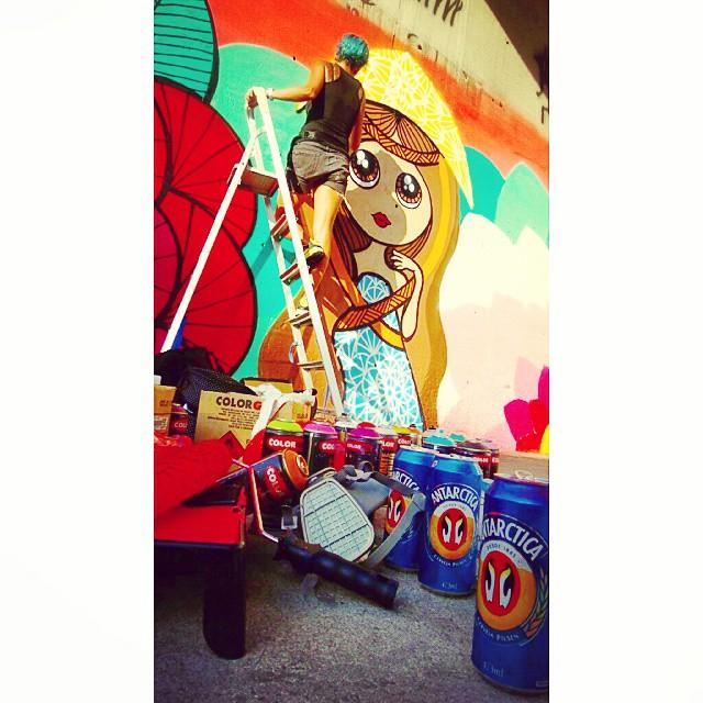 Dia de role dar mulé! #aula #graffiti #streetartrio #rj #art