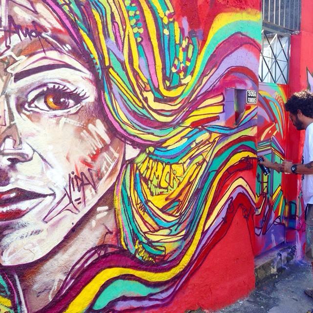 Foto: @marcelojou #santateresa #spraypaint #graffiti #riodejaneiro #freestyle #freehand #streetartrio #mentone #marceloment
