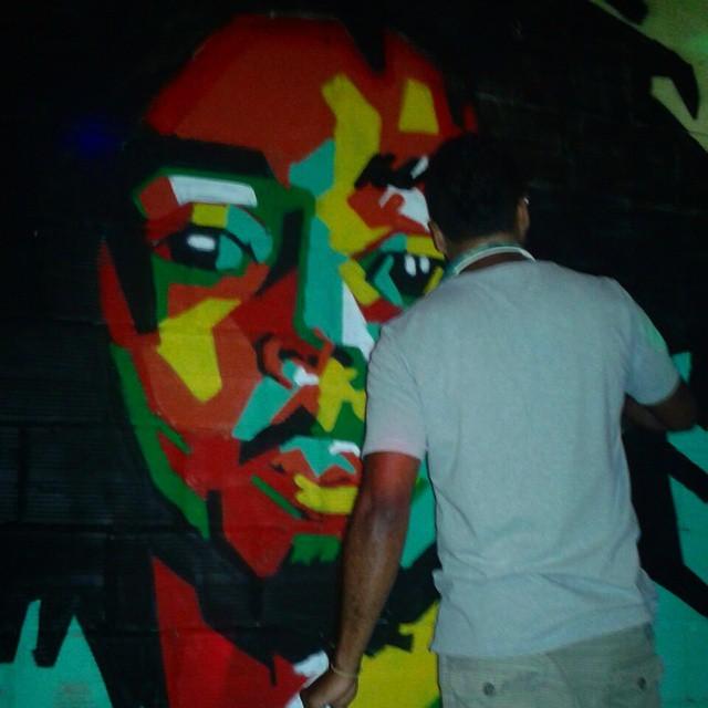 Lá se vão 34 anos... #onelove #reggae #bob #bobmarley #graffiti #StreetArtRio #leandroice #mtnrio