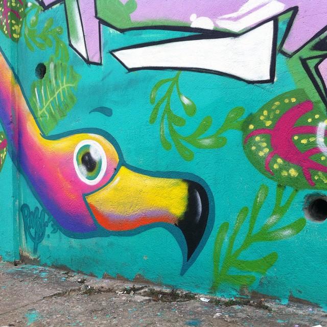 Muita coisa acontecendo! #rafa #rafagraffiti #rafaelgeraldo #flamingo #trapacrew #vilaisabel #streetart #streetartrio #mtn #mtn94 #colorgin #colorginarteurbana #jc #cast