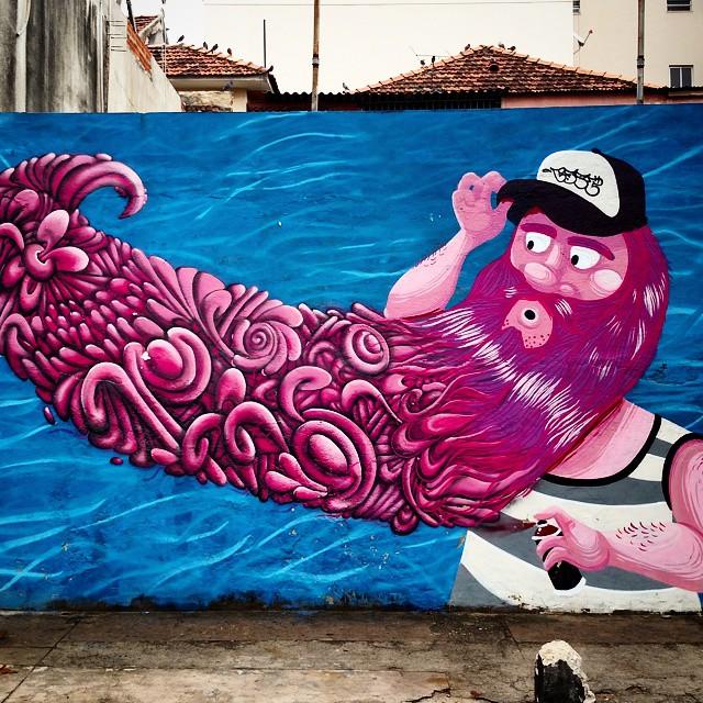 Pára e repara: a arte tá na rua. #riostreetart #streetartrio #riodejaneiro #grafitti #tijuca