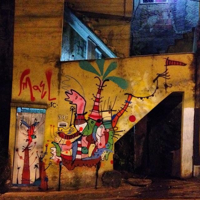 Rocinha, multirão de graffiti. Acabei de terminar. Valeu @warkrocinha pelo convite!