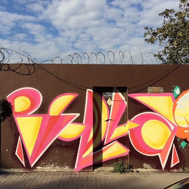 #spraypaint #letras #letters #graffiti #graffitigirls #graffitirio #streetartrio #streetart #phame #bellasrio #bella #props