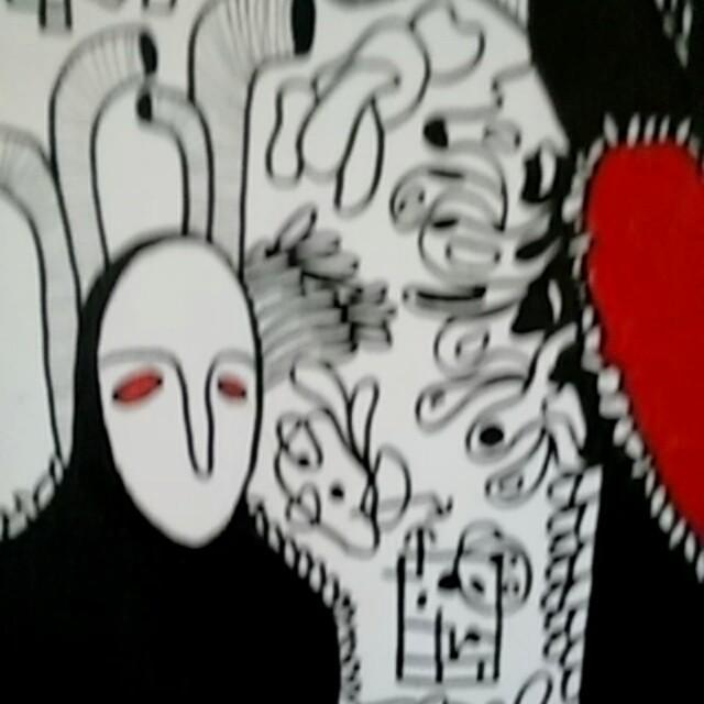 Coração #rj #zonaosterj #rjvandal #streetartrio #graffitirj #graffiticanvas # #arte #graffitiemtela #canetasharpie #acrilica #artedodia #tela #freeworldcrew #art #artgram #instagraffiti #instaart #artgalleries #artgallery #galeria
