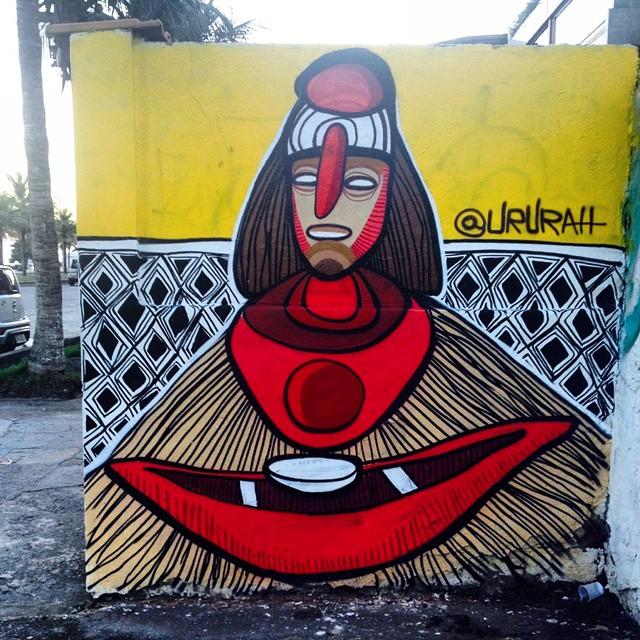 Pescador #streetgallery # #streetartbrazil #streetartrio #instagraffiti #graffiti #ururahy #urura #rjvandal #galeriaaceuaberto #streetart #rj #errejota #barradatijuca