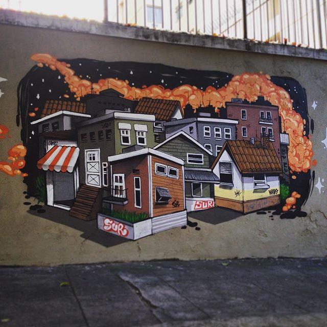 Manhã de domingo , peguei um latex e fiquei de cama. Amigo outro dia morreu de latex ... Hahahahahahah @raphaeltorres @andreiasmarques #nrvo #betofame #paint #Tijuca #MouraBrito #Local #fame #fameone #graffiti #streetart #streetartrio #city #cidade #arquitetura #urbano #testando