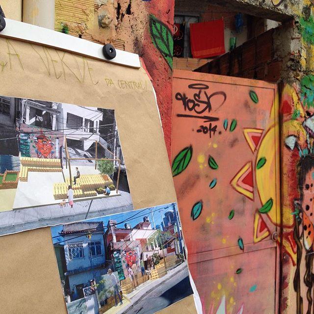 Praça verde em movimento #streetart #streetartrio #artederua #alemão #cpx #favelasempre