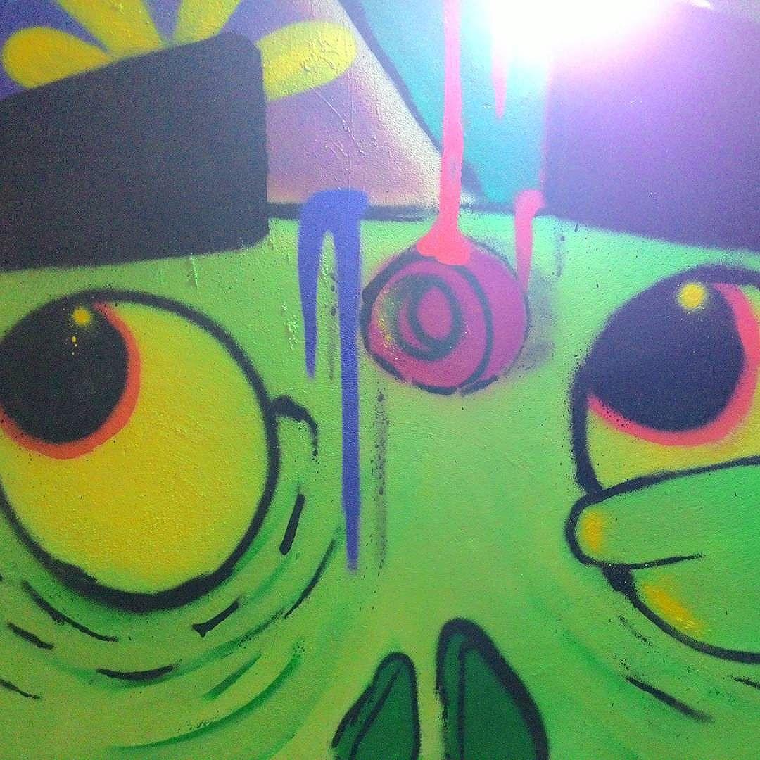 Detalhe... #alfa #AlfaArtista #painting #art #graffiti #zumbie #persona #caradelata #streetartrio