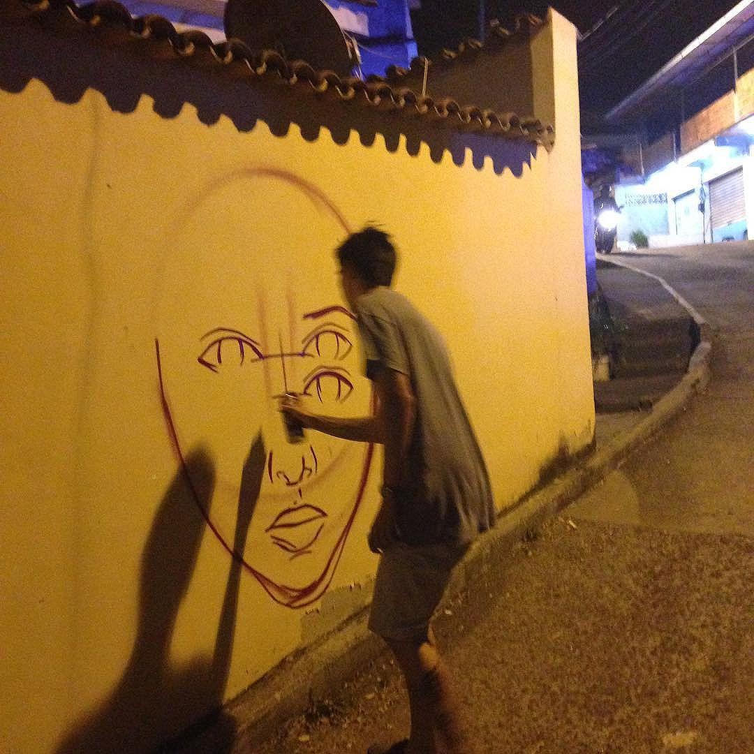 @pedrongomes começando os trabalhos! #streetartrio #tijukistan #tijuca