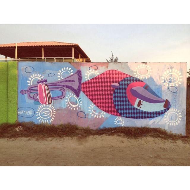 Pintura feita durante o Festival de Jazz & Blues de Rio das Ostras #graffiti #streetartrio #streetart #arteurbana #instagraffiti #painting #jazz #blues #jazzebluesriodasostras #jazzebluesfestival bluesfestival #art #arte #urbanart