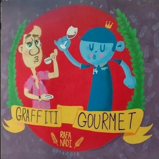 """Rafa e Nadi. """"Graffiti Gourmet"""" Tijuca"""