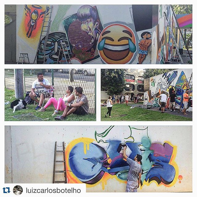 #Repost @luizcarlosbotelho with @repostapp. ・・・ Dia de festa no CIEP Nação Rubro Negra - pinturas em andamento! Amanhã tem mais festa com #flashbeckgrill WIP #fbc #fleshbeckcrew #leblon #graffitti #artrua #arterua #arteurbana #galeriaaceuaberto #streetartrio @ottis_96 #ottis @warkrocinha #wark #warkrocinha @panmelacastro