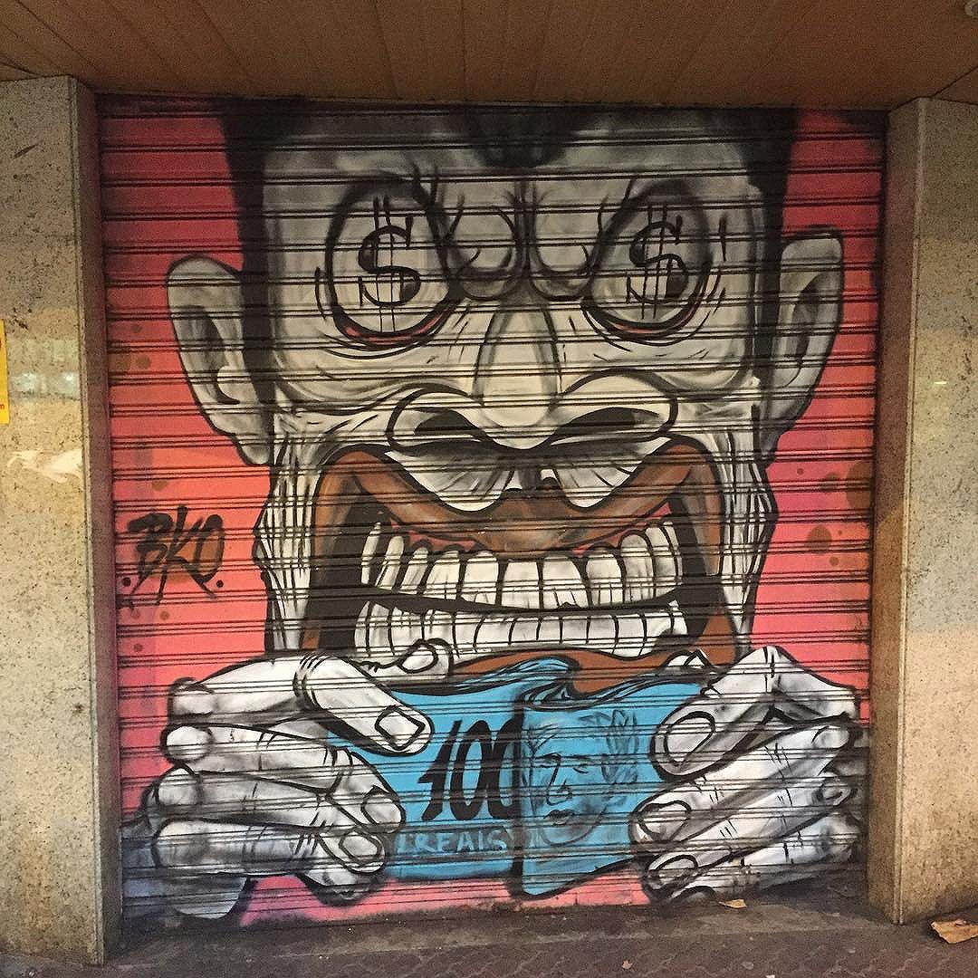 By #bko #streetart #streetartrio #riostreetart #graffiti #graffitiworld #graffitibrasil #graffitibrazil #rsa_graffiti #dsb_graffiti #graffiti #brazil #rio