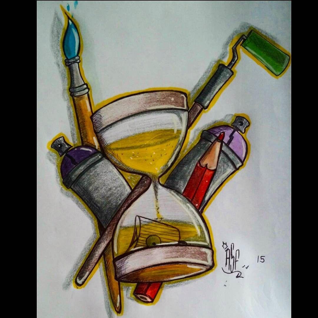Tempo de rabiscar!!! #Ilustração #ASF #UNC #UniaoNacionalCrew #draw #tatoo #graffiti #Galerio #streetartrio #instagraffiti #rjvandal #Rj