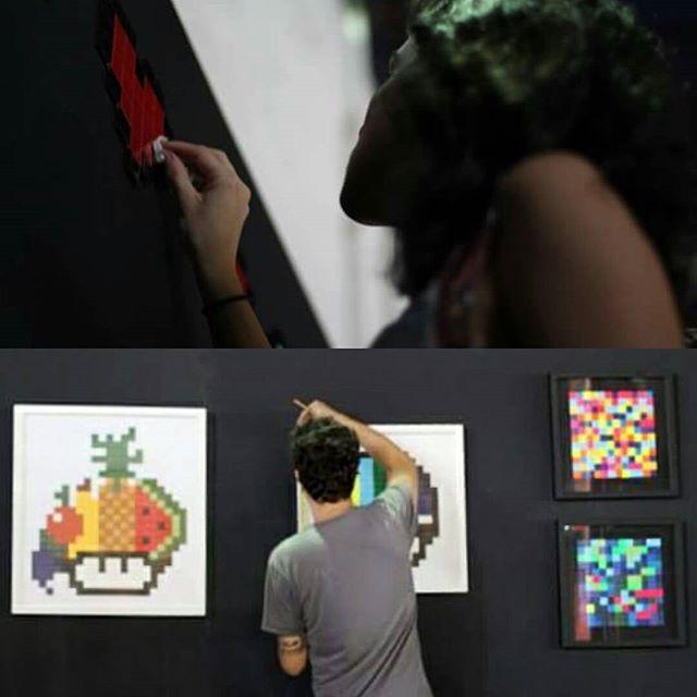Fechando os últimos detalhes no @artrua #vemproporto #artrua #8bitch #8bitchproject #pixelart #pixels #streetart #streetartrio