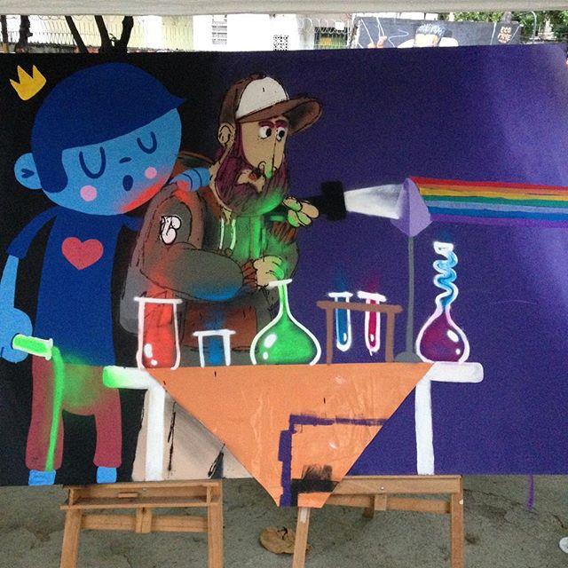 Arte e ciência, juntas! Muito obrigado pelo dia de hoje e o convite @nadigraffiti #arte #ciencia #cultura #tijuca #tijukistao #tijukistan #cazesawaya #caze #streetart #streetartphoto #streetartrio