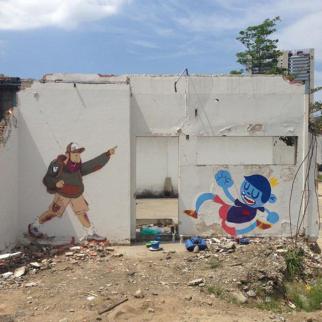 Bom dia! #cazesawaya e @nadigraffiti #secretspot #streetart #streetartrio #streetartphoto #spot #wall #ink #spray