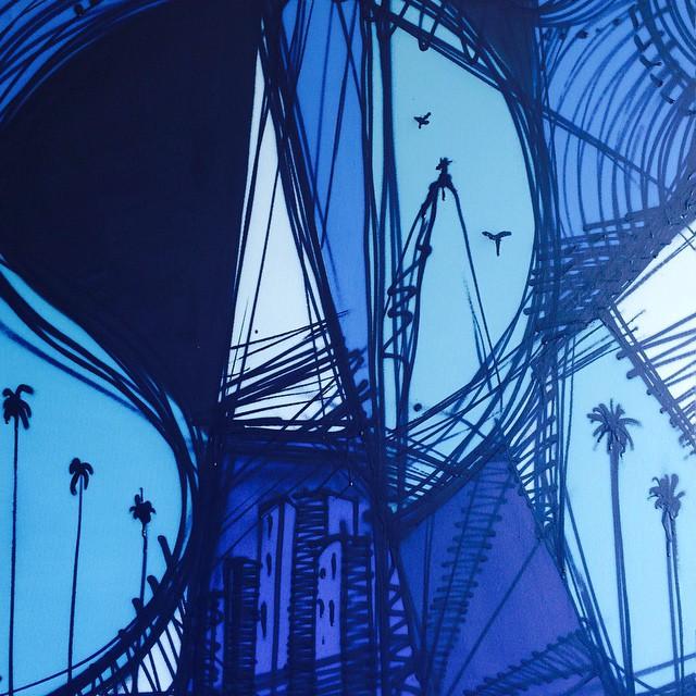 Remodelando .... Blue line ... #trueblue #arteurbana #art #sejaamor #streetartrio #streetartbrasil #sofia #blueline #bluelover
