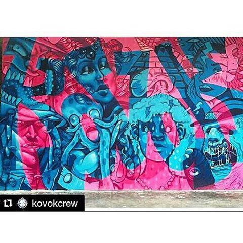 #Repost @kovokcrew with @repostapp ・・・ Isso é KOVOK! Nosso painel pro @artecore! Mais uma vez demonstrando a sintonia do nosso grupo! Obrigada @homegrown68 pelo convite. #kovokcrew #porrabira #artecore #streetartrio #estragrafismo