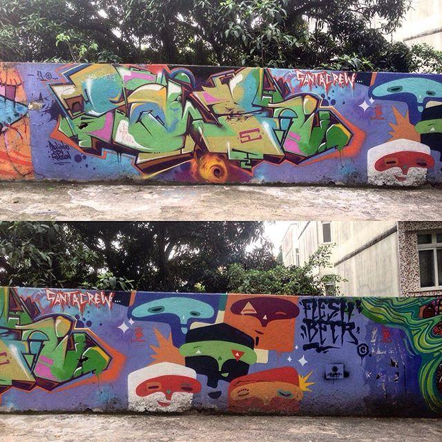 Santa Crew #graffiti #graffporn #streetart #streetartrio #streetartglobe #urbanart #spraydaily #muralsdaily #nofilter #santateresa #riodejaneiro #brazil