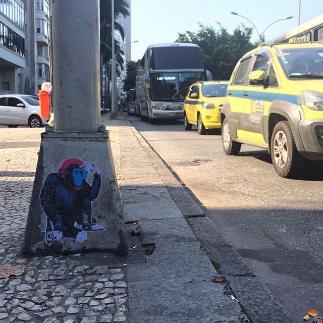 olympic traffic flood @ Rio 2016! #hellthejaneiro #pasteup #wheatpaste #stickerporn #streetart #stencilstuff #streetartrio #riodejaneiro