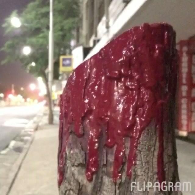 #oraculoproject #artederua #arteurbana #urbanart #streetart #streetartrio #streetartphotography #urbanwalls #grafite #graffiti #intervenção #intervention #love #amor #natureza #love #nature #bleedingtree #arvoresangrando #oraculotrees #mothernature #manifesto #sculpture #escultura #brasil #brazil #riodejaneiro #copacabana #copa #greenpeace #sadtree #bleedingtree #arvoresangrando : 2 em sequencia...