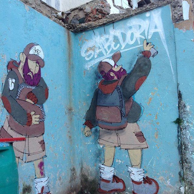 #sabedoria #barbudinhoo #streetart #streetartrio #streetarteverywhere #ilhadogovernador #projetoloboguara