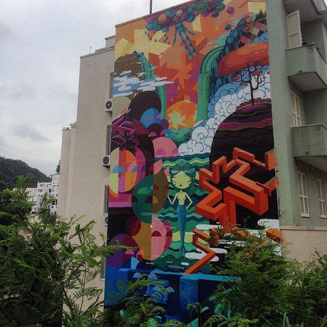 Art done by @tozfbc #graffiti #grafporn #streetart #streetartrio #streetartglobe #urbanart #spraydaily #muralsdaily #nofilter #santateresa #riodejaneiro #brazil
