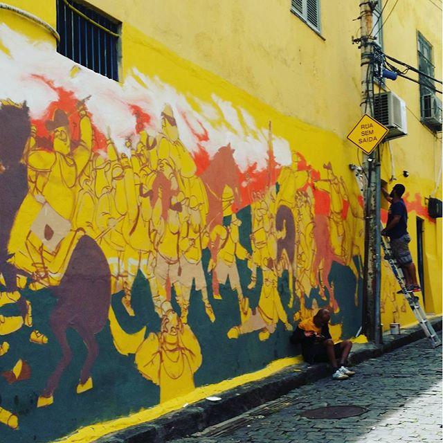 Da serie: eu amo a minha area. #inaction @cazesawaya #graffiti #streetartrio #ladeiradocastro
