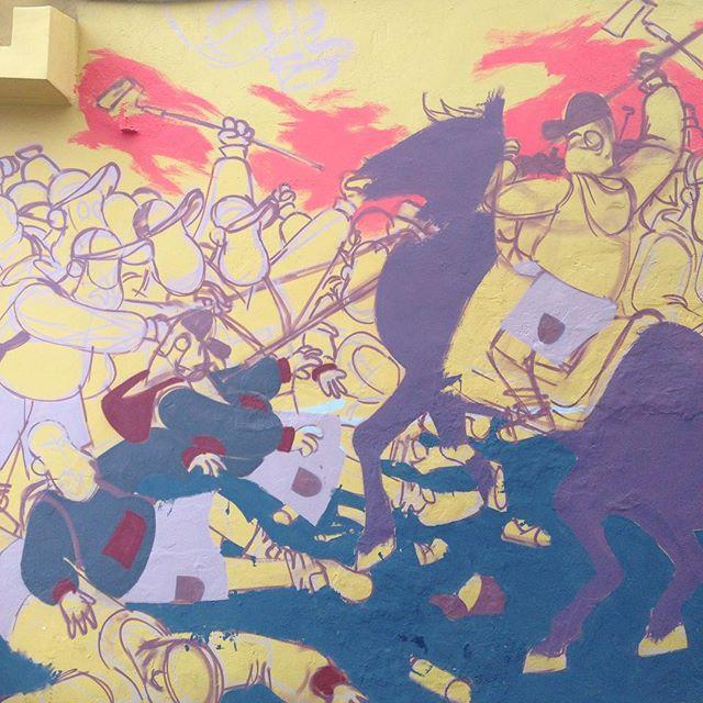 Detalhe! #streetart #streetartrio #barbudinhoo #guerradoego #cazesawaya #cazé #andarilho #war #horse #naoeodaijorge #ladeiradocastro