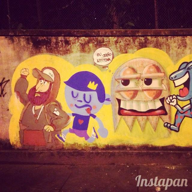 Eu odeio azeitona! #streetart #streetstyle #streetartrio #cazesawaya #nadi #cast #elli valeu a noite galerinha!