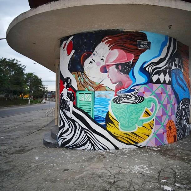 """""""Eu tive um sonho"""" Os Passionais #ospassionais #ruasdazn #streetartrio #pintabrigaeama #duo #artlove"""