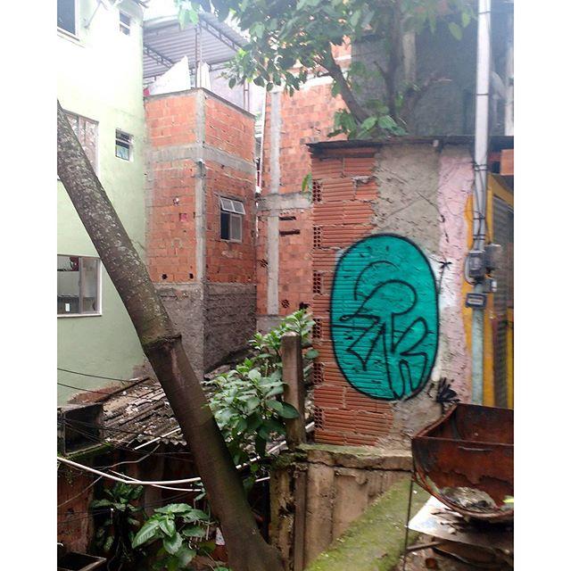 Faz na quebrada o equilíbrio ecológico. #streetartrio #favela #graffiti