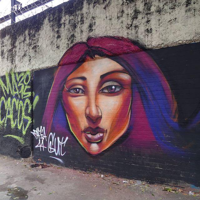 "Graffiti art by @gut_mafia44 for ""XVI Macacos"". #mafia44 #streetartrio #graffitiart #XVImacacos #macacos2015 #macacosuerj"