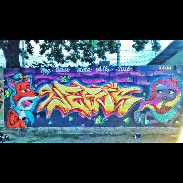 MOY UEBIS MIKA ALFA vamo com tudo #somosandarilhos #coresevalores #soscrew #streetart #streetartrio #jesusminhavida #iloveink