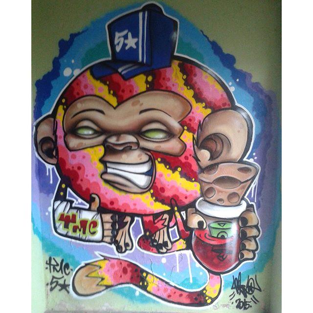 Monkrack Resende City Rio de Janeiro #graffitart #thementescrew #fivestarfamily #riodejaneiro #streetArtRio