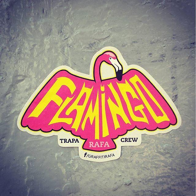 Na na na na na na na na na flamingo!! #rjstickers #tudocerto #rafa #rafaelgeraldo #rafagraffiti #trapacrew #streetart #streetartrj #streetartrio #stickerrj #sticker #stickers #adesivo #brt #vicente #graff #graffiti #grafite #vp #viladapenha #vicentedecarvalho #stickerart #streetartchile