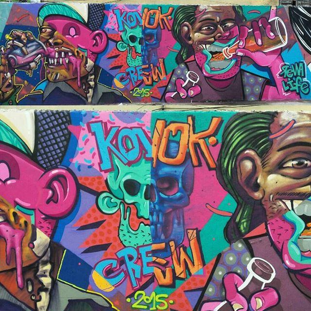 Pow pow pow #worldstar #graffiti #zn #artrua #streetart #streetartrio #estragrafismo #galeriaceuaberto #outdoor #ruasdazn #lifekvk #renakvrenakvk #kovokcrew