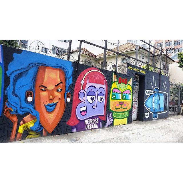 RUA DOUTOR SATAMINI COM RUA S. FRANCISCO XAVIER - RIO DE JANEIRO RJ ARTISTS: @marceloeco @chivitz @minhau #graffiti #graffitiart #graffitiwall #streetculture #streetphotography #streetstyle #urbanart #spraypaint #graffitirio #StreetArtRio #muros #artederua #streetart #arteurbana #welovestreetart #mural #streetartfiles #graffart #graffittigers #spraypaint #graff #wallart #olheosmuros #loves_street_art #graffitilegends #streetartofficial #streetarteverywhere #streetartistry #stickerart #urbanwalls #instagraffiti