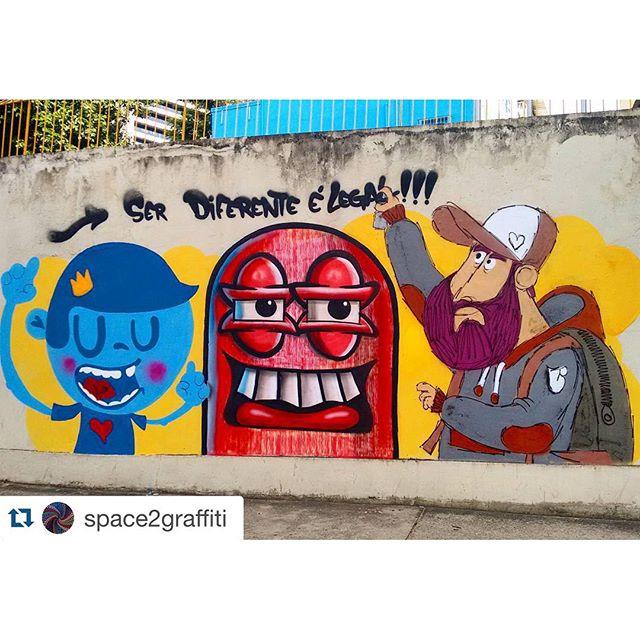 #Repost @space2graffiti with @repostapp. ・・・ #Cazesawaya #nadi #cast #streetartrio
