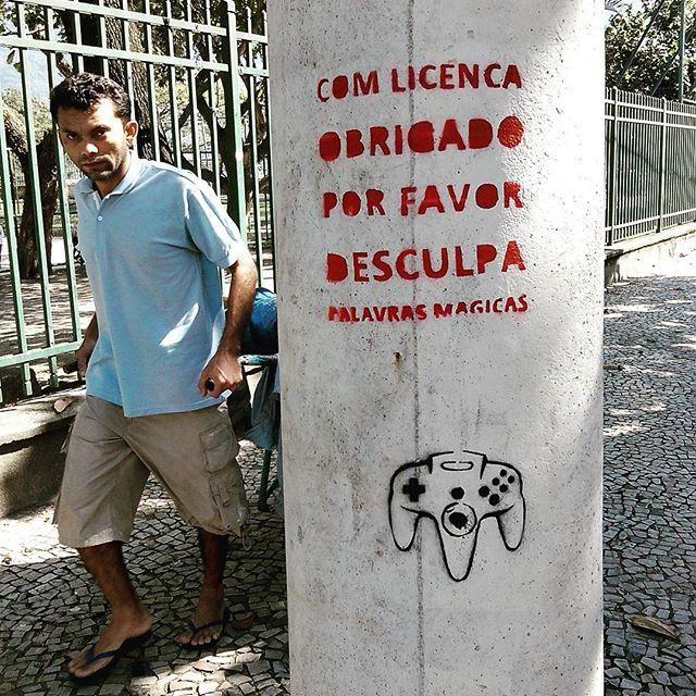 Rio de Janeiro. 18/09/2015 | vandalogy #StreetArtRio #StreetArt #stencil #stencilart #riodejaneiro #palavrasmágicas