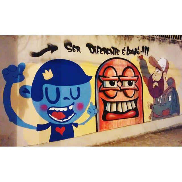 Ser diferente é legal! #streetartrio #streetart #graffiti #rj #instagraffiti #nadigraffiti #maracana