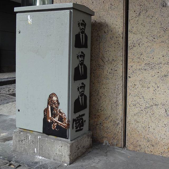 Stencil art by @natafamilia . #natafamilia #streetartrio #spraypaint #stencil #stencilart