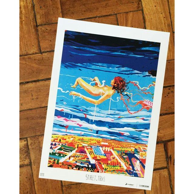 Também da série Pôster Arte 50/50... Impressão em papel offset 240 gramas, tamanho A3. A proposta é tornar a arte urbana acessível. Os pôsteres, criados a partir da collab @homegrown68 + Rider, custam apenas R$ 30 e estão à venda na Homegrown Ipanema :)