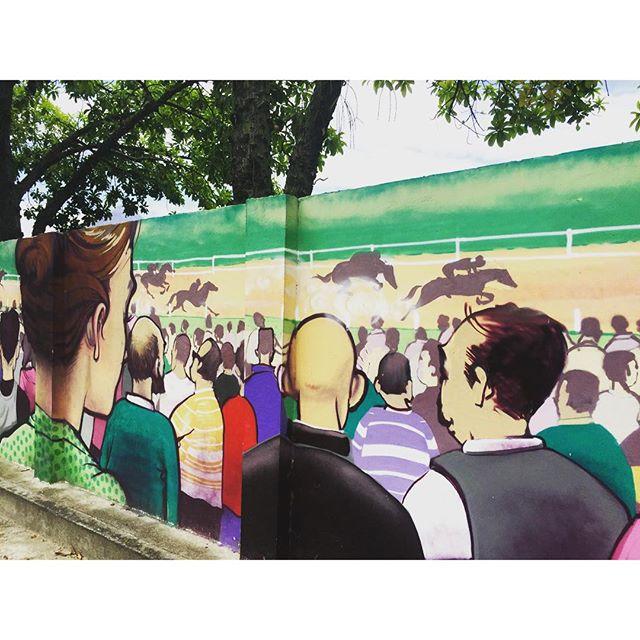 Uma homenagem ao Jockey! #jockeyclub #riodejaneiro #lagoarodrigodefreitas #streetartrio #graffrio #graffiti #grafite #projetosaúde #caminhada #murosdorio