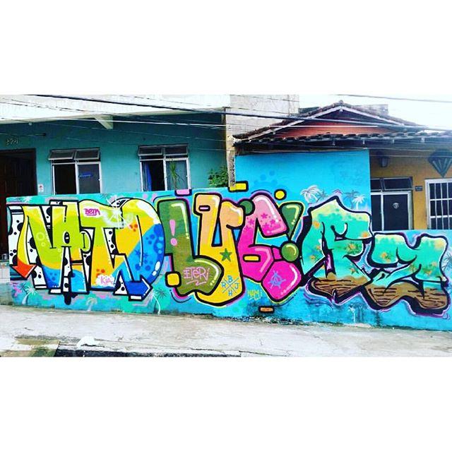 Vato, Lucas e Fz no Museu NAMI na Tavares Bastos. ETER de Belo Horizonte invadindo a área e deixando sua marca. @vatogaspar #graffiti #MuseuNami #TavaresBastos #Streetartrio Quer pintar em nosso museu? Envie um e-mail para curadoria@redenami.com