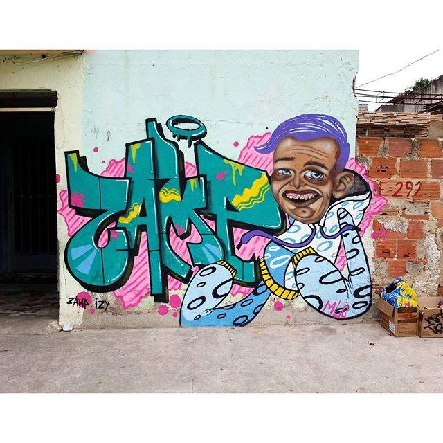 """ Zampizy "" #graffitiart #streetart #graffiti #street #letters #streetstyle #favela #streetartrio"