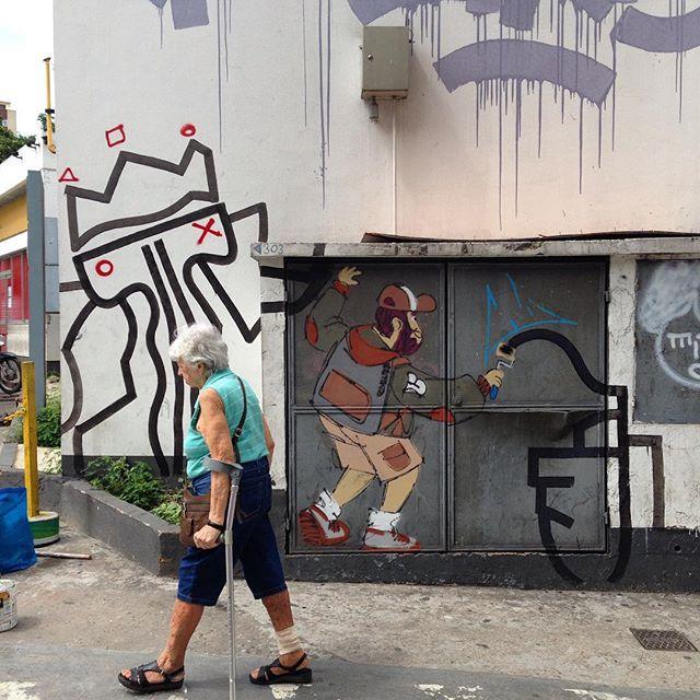 #andarilho com o amigo #andre #streetart #streetartrio #streetstyle #cazesawaya #lapapresente #riodejaneiro @ab_artvisual