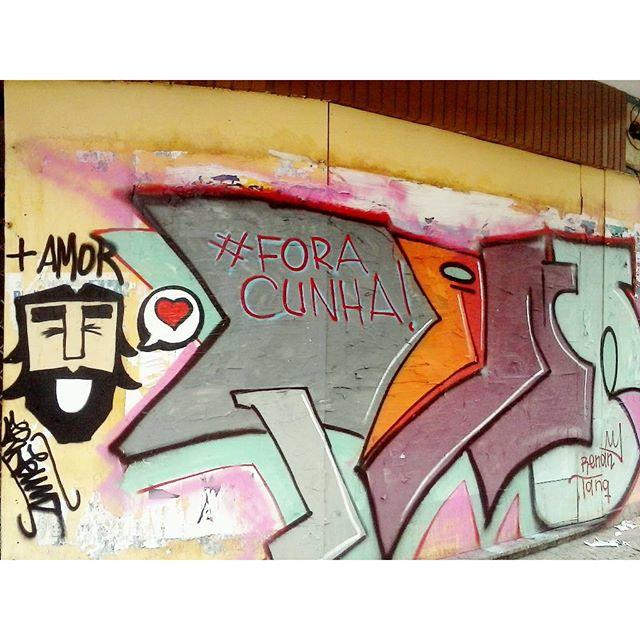 #maisamor #foracunha #Streetartrio #méier #graffitiart