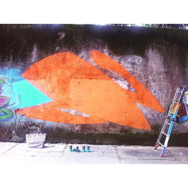 Alto da Boa Vista, Rio de Janeiro. #graffiti #grafite #spraycans #noucolors #tijukistão #tjk #altodaboavista #streetartrio #marceloeco #brasil #brazil #riodejaneiro #andarilho #lobosolitario